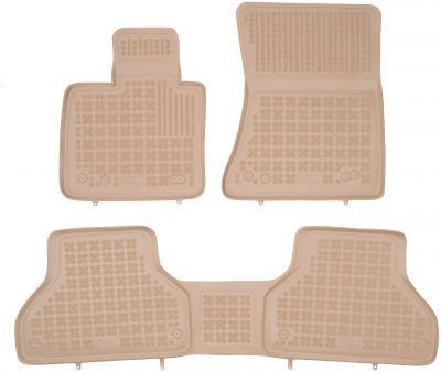 REZAW PLAST beżowe gumowe dywaniki samochodowe  BMW X6 E71 od 2008-2014r. 200709B