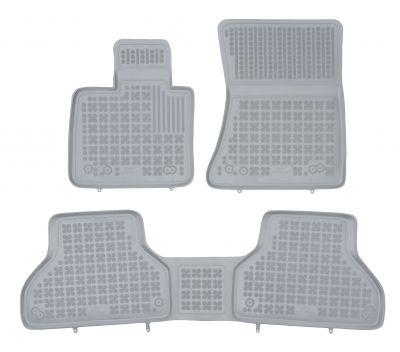 REZAW PLAST popielate gumowe dywaniki samochodowe BMW X5 E70 od 2006-2013r.