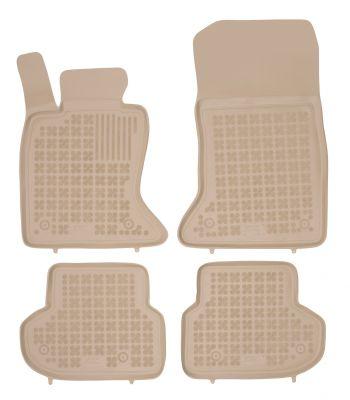 REZAW PLAST beżowe gumowe dywaniki samochodowe BMW s5 F10 F11 od 2013-2017r. 200717B