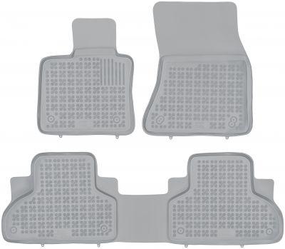 REZAW PLAST popielate gumowe dywaniki samochodowe BMW X5 F15 od 2013r. 200718S/Z