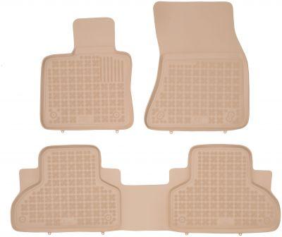 REZAW PLAST beżowe gumowe dywaniki samochodowe BMW X5 F15 od 2013r. 200718B