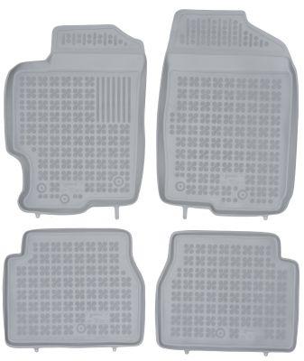 REZAW PLAST popielate gumowe dywaniki samochodowe Mazda 6 od 2002-2012r. 200801S