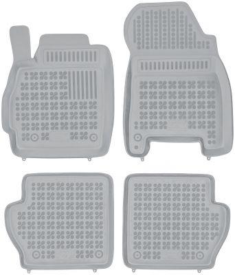 REZAW PLAST popielate gumowe dywaniki samochodowe Mazda 2 III z wycięciem na gaśnicę od 2007-2014r. 200802S/Z