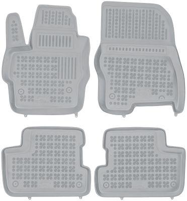 REZAW PLAST popielate gumowe dywaniki samochodowe Mazda 3 I/II z wycięciem na gaśnicę od 2003-2013r. 200803S/Z