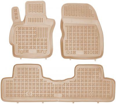 REZAW PLAST beżowe gumowe dywaniki samochodowe Mazda 5 od 2005-2010r. 200804B/Z