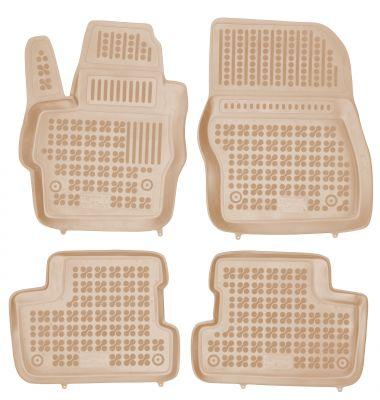 REZAW PLAST beżowe gumowe dywaniki samochodowe Mazda 3 I/II od 2003-2013r. 200806B/Z