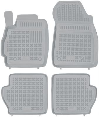 REZAW PLAST popielate gumowe dywaniki samochodowe Mazda 2 III od 2007-2014r. 200808S/Z
