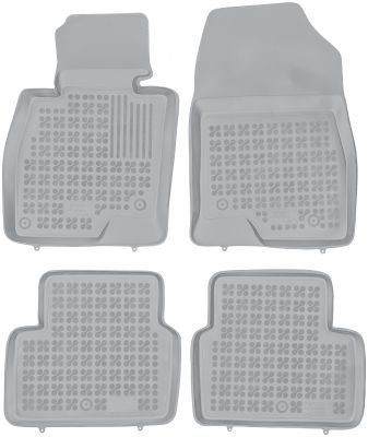 REZAW PLAST popielate gumowe dywaniki samochodowe Mazda 6 Kombi od 2013r. 200812S/Z