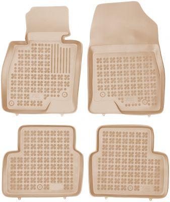 REZAW PLAST beżowe gumowe dywaniki samochodowe Mazda 6 Kombi od 2013r. 200812B/Z