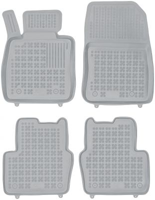 REZAW PLAST popielate gumowe dywaniki samochodowe Mazda 2 IV od 2014r. 200814S/Z