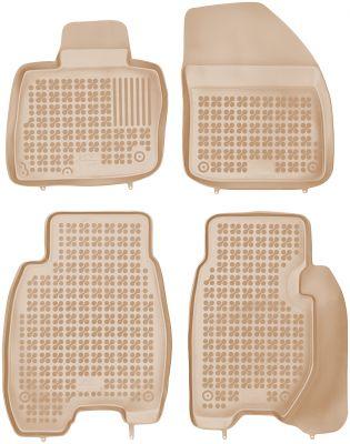 REZAW PLAST beżowe gumowe dywaniki samochodowe Honda Civic VIII 3-drzwiowe 5-drzwiowe od 2006-2011r. 200902B/Z