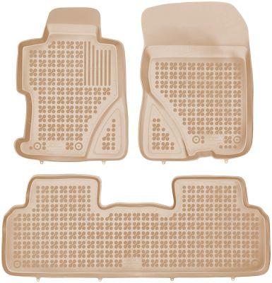 REZAW PLAST beżowe gumowe dywaniki samochodowe Honda Civic VIII Sedan 2006-2011r. 200908B/Z