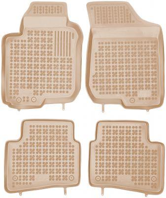 REZAW PLAST beżowe gumowe dywaniki samochodowe Kia Pro Ceed I od 2006-2013r. 201001B/Z