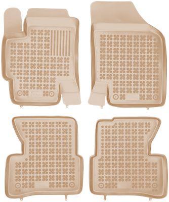 REZAW PLAST beżowe gumowe dywaniki samochodowe Kia Rio II od 2005-2011r. 201002B/Z