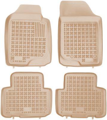 REZAW PLAST beżowe gumowe dywaniki samochodowe Kia Carens III od 2006-2013r. 201003B/Z