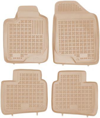 REZAW PLAST beżowe gumowe dywaniki samochodowe Kia Magentis II od 2006-2010r. 201004B/Z