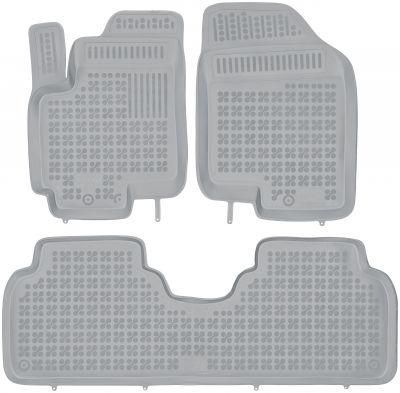 REZAW PLAST popielate gumowe dywaniki samochodowe Hyundai ix20 od 2010r. 201007S/Z