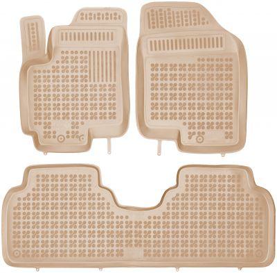 REZAW PLAST beżowe gumowe dywaniki samochodowe Hyundai ix20 od 2010r. 201007B/Z