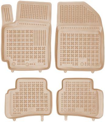 REZAW PLAST beżowe gumowe dywaniki samochodowe Kia Cerato od 2004-2008r. 201009B/Z