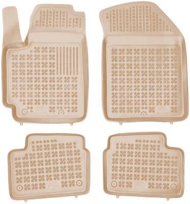 REZAW PLAST beżowe gumowe dywaniki samochodowe Kia Picanto II od 2011-2017r. 201013B/Z