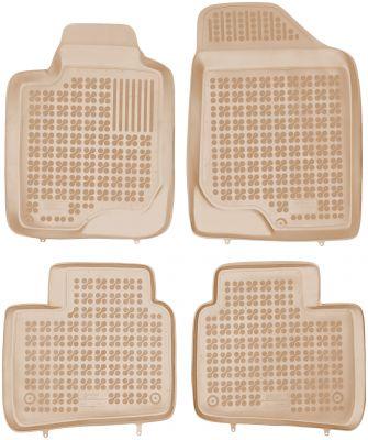 REZAW PLAST beżowe gumowe dywaniki samochodowe Kia Optima III od 2010-2015r. 201015B/Z