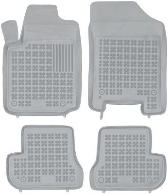 REZAW PLAST popielate gumowe dywaniki samochodowe Citroen C2 z wycięciem na gaśnicę od 2003-2009r. 201202S/Z
