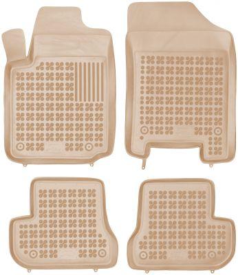 REZAW PLAST beżowe gumowe dywaniki samochodowe Citroen C2 z wycięciem na gaśnicę od 2003-2009r. 201202B/Z