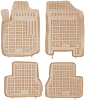 REZAW PLAST beżowe gumowe dywaniki samochodowe Citroen C3 z wycięciem na gaśnicę od 2002-2009r. 201203B/Z
