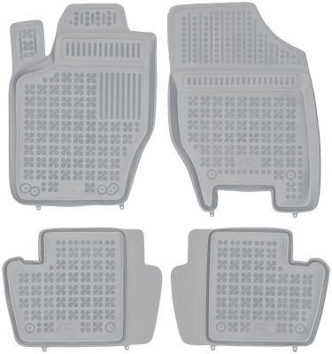 REZAW PLAST popielate gumowe dywaniki samochodowe Citroen C4 II od 2011r. 201218S/Z
