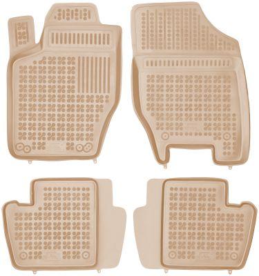 REZAW PLAST beżowe gumowe dywaniki samochodowe Citroen C4 II z wycięciem na gaśnicę od 2011r. 201206B/Z