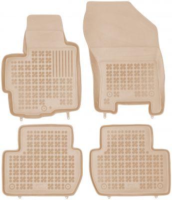 REZAW PLAST beżowe gumowe dywaniki samochodowe Citroen C-Crosser z wycięciem na gaśnicę od 2007r. 201208B/Z