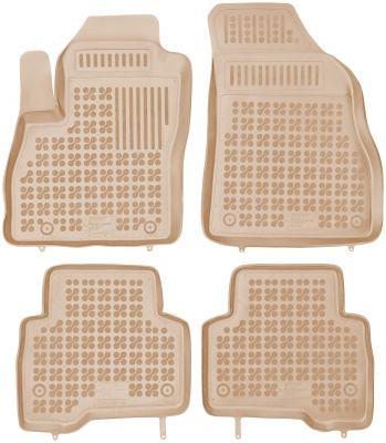 REZAW PLAST beżowe gumowe dywaniki samochodowe Citroen Nemo Kombi od 2007r. 201209B/Z