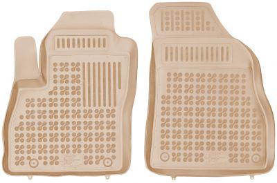 REZAW PLAST beżowe gumowe dywaniki samochodowe Citroen Nemo Dostawczy 2-osobowy od 2007r. 201209P/B/Z
