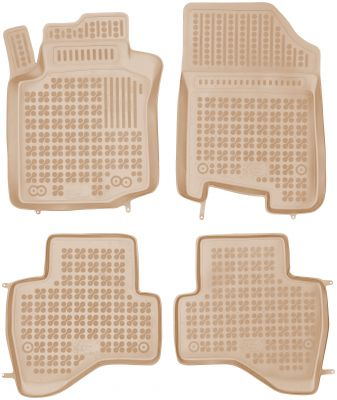 REZAW PLAST beżowe gumowe dywaniki samochodowe Citroen C1 I od 2008-2014r. 201211B/Z