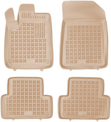 REZAW PLAST beżowe gumowe dywaniki samochodowe Citroen C5 od 2001-2008r. 201214B/Z