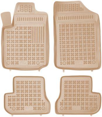 REZAW PLAST beżowe gumowe dywaniki samochodowe Citroen C2 od 2003r. 201216B/Z