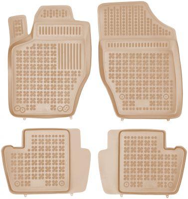 REZAW PLAST beżowe gumowe dywaniki samochodowe Citroen C4 I Hatchback od 2004-2010r. 201218B/Z