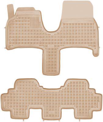 REZAW PLAST beżowe gumowe dywaniki samochodowe Lancia Phedra od 2002-2010r. 201220B/Z