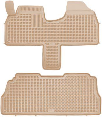 REZAW PLAST beżowe gumowe dywaniki samochodowe Lancia Zeta od 1994-2002r. 201221B/Z