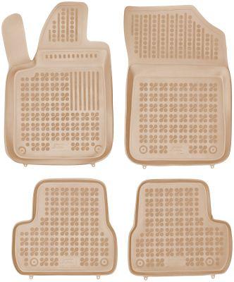 REZAW PLAST beżowe gumowe dywaniki samochodowe Citroen DS3 Hatchback 3-drzwiowy od 2010r. 201222B/Z