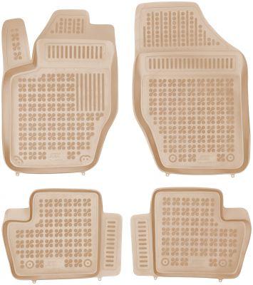 REZAW PLAST beżowe gumowe dywaniki samochodowe Citroen DS4 Hatchback 5-drzwiowy od 2011r. 201223B/Z