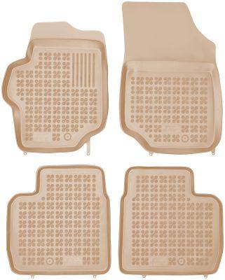 REZAW PLAST beżowe gumowe dywaniki samochodowe Citroen C-Elysee od 2012r. 201226B/Z