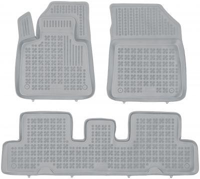 REZAW PLAST popielate gumowe dywaniki samochodowe Citroen C4 Grand Picasso II od 2013r. 201227S/Z