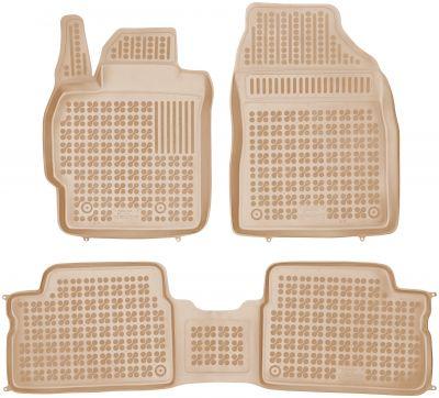 REZAW PLAST beżowe gumowe dywaniki samochodowe Toyota Auris od 2007-2012r. 201401B/Z