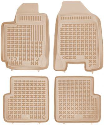 REZAW PLAST beżowe gumowe dywaniki samochodowe Toyota Corolla z wycięciem na gaśnicę od 2000-2006r. 201402B/Z