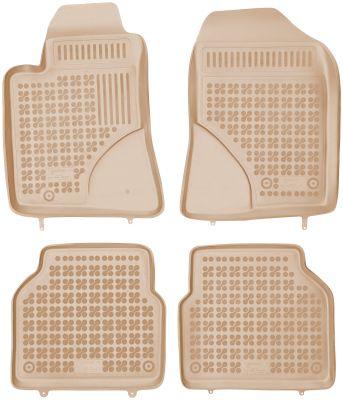 REZAW PLAST beżowe gumowe dywaniki samochodowe Toyota Avensis od 2003-2009r. 201404B/Z