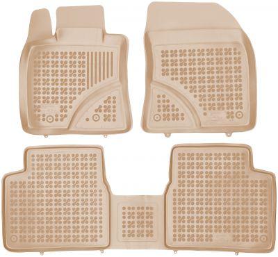 REZAW PLAST beżowe gumowe dywaniki samochodowe Toyota Avensis od 2009r. 201405B/Z