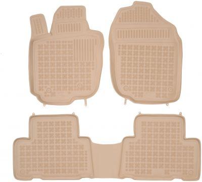 REZAW PLAST beżowe gumowe dywaniki samochodowe Toyota Rav4 5-drzwiowa (wersja europejska) od 2006-2012r. 201406B