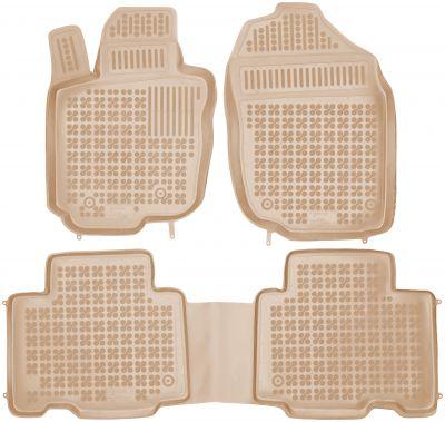 REZAW PLAST beżowe gumowe dywaniki samochodowe Toyota Rav4  wersja amerykańska od 2006-2012r. 201407B/Z