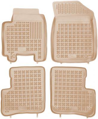 REZAW PLAST beżowe gumowe dywaniki samochodowe Toyota Yaris z wycięciem na gaśnicę 5-drzwiowy od 1998-2005r. 201408B/Z